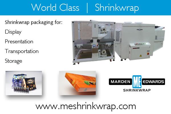 Marden Edwards Shrinkwrap - Packaging News Directory Advert 110516